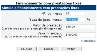 Calculadora do BC ajuda a calcular os juros embutidos em um financiamento (Foto: Reprodução)