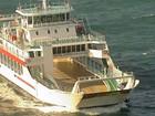 Movimento no ferry-boat na tarde de domingo (27) é considerado tranquilo