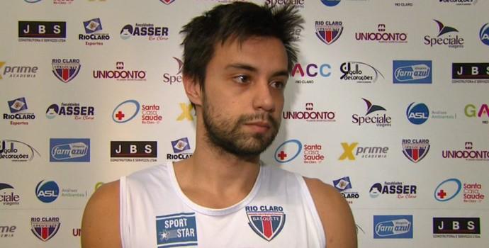 Caio Ranches, jogador do Rio Claro-SP (Foto: Rodrigo Sargaço/EPTV)