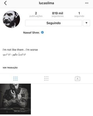 Lucas Lima Instagram hackeado (Foto: Reprodução/Instagram)