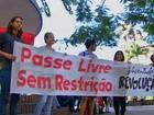 Estudantes protestam contra aumento da tarifa para até R$ 3,80 em Cuiabá