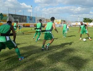 Treino do Sousa no Marizão (Foto: Jéfferson Emmanoel / Globoesporte.com/pb)