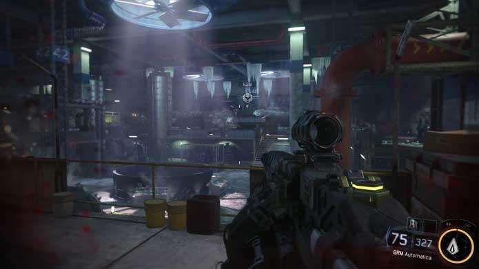 Call of Duty: Black Ops 3: visual da campanha apresenta menos detalhes (Foto: Reprodução/Murilo Molina)