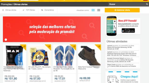 Promobit, plataforma que realiza comparações de ofertas (Foto: Divulgação)