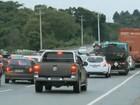 Após chuvas, rodovias federais têm filas e lentidão no litoral catarinense