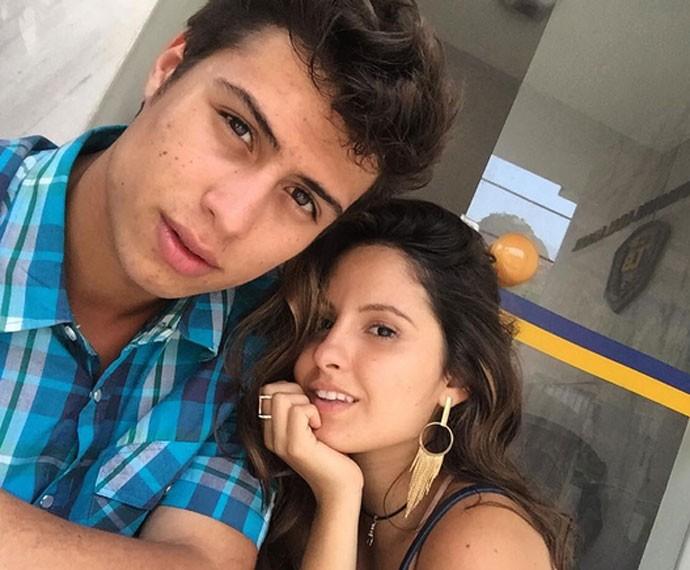 Francisco e Amanda são grandes amigos na vida real (Foto: Arquivo Pessoal)