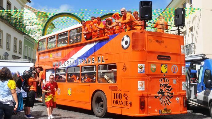 Orange Square; Pelourinho; torcida da Holanda; Salvador (Foto: Rita Barreto/Bahiatursa/Divulgação)