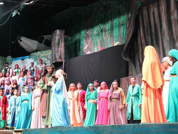 Musical contou história do nascimento de Jesus (Foto: Ive Rylo/G1 AM)