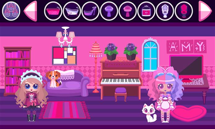 My Doll House é um game para montar bonitas e coloridas casinhas de boneca (Foto: Divulgação/Windows Phone Store)
