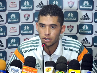 Renato no Fluminense (Foto: Marcelo Barone)