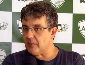 Anthoni Santoro, técnico do Alecrim (Foto: Reprodução/Inter TV Cabugi)