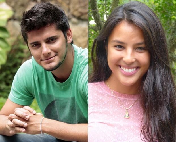 Bruno Gissoni e a namorada Yanna Lavigne (Foto: Domingão do Faustão/ TV Globo)