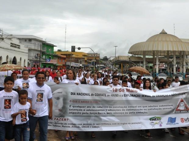Marcha (Foto: Francisco Rocha/G1)