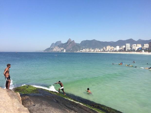 Rio registrou 40 graus (Foto: José Raphael Bêrredo/G1)