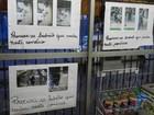 Após furtos, comerciante cria mural com fotos de criminosos em Manaus