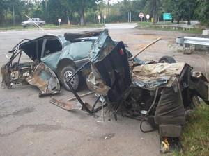 Três pessoas morreram e uma ficou em estado grave (Foto: PMR/Divulgação)