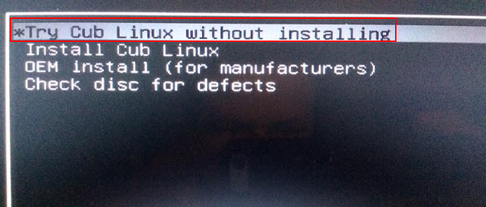 Iniciando o Cub Linux (Foto: Reprodução/Edivaldo Brito)