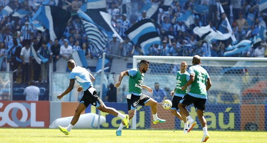 """""""alentaço"""" (Lucas Uebel/Grêmio/Divulgação)"""