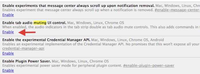 Ativando o botão de mute nas abas do Chrome (Foto: Reprodução/Marvin Costa)