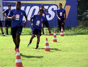 &#193;vine e Elias em treino f&#237;sico do Bahia (Foto: Divulga&#231;&#227;o/ EC Bahia)