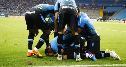 ufa! (Lucas Uebel/Grêmio, Divulgação)