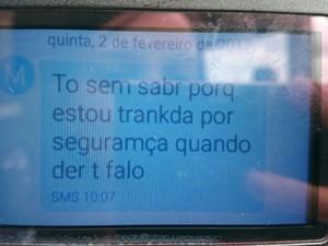 Funcionária do santuário diz estar trancada por segurança (Foto: Mayara Corrêa/G1)