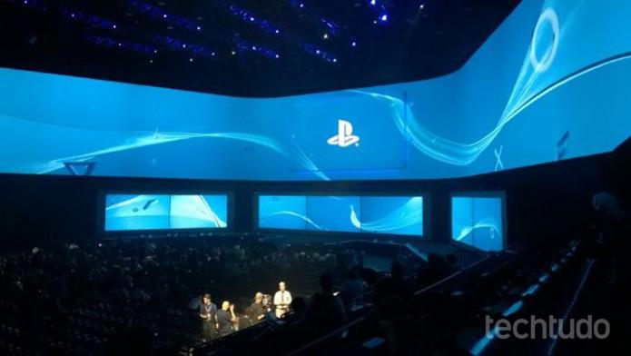 Abertura da conferência da Sony (Foto: Isadora Díaz /TechTudo)