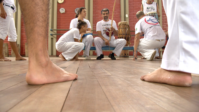 Cultura brasileira e internacional interagem em Roda de Capoeira (Foto: Divulgação/ TV Gazeta ES)