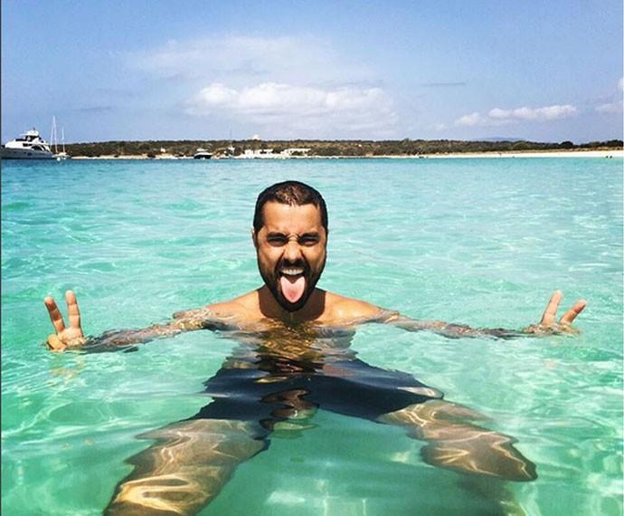 Curtindo o merecido descanso em Ibiza (Foto: Arquivo Pessoal)