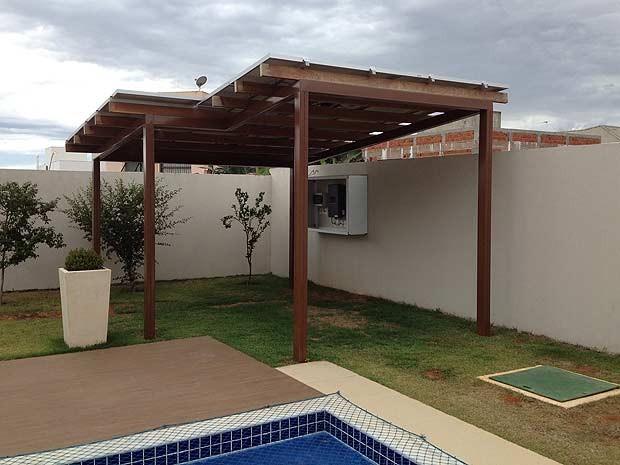 Painel solar instalado na casa do servidor público Carlos Eduardo Tiusso, em Brasília (Foto:  Carlos Eduardo Tiusso/Divulgação)