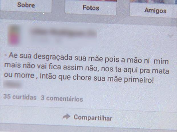 Mulher diz que após agressões, estudantes passaram a ameaçar as filhas em redes sociais (Foto: Valdinei Malaguti/EPTV)