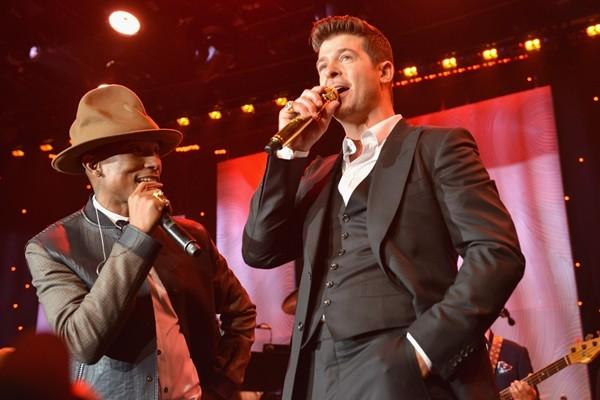 Robin Thicke e Pharrell Williams  (Foto: Getty Images)