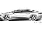 Volkswagen mostra esboço de novo sedã que ficará acima do Passat