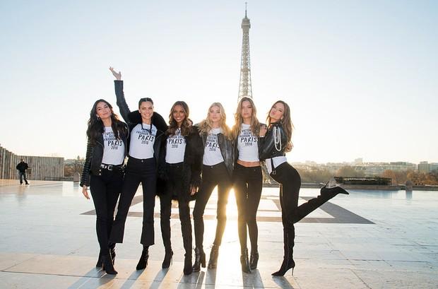 ily Aldridge, Adriana Lima, Jasmine Tookes, Elsa Hosk, Josephine Skriver e Alessandra Ambrósio (Foto: Getty Images)