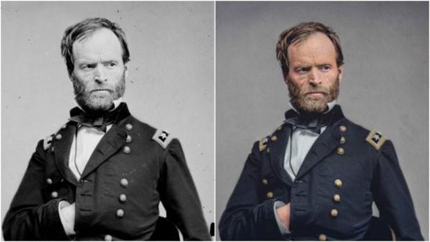 Fotos de general William T. Sherman (Foto: Marina Amaral)