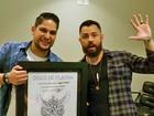 Sucesso! Jorge e Mateus ganham disco de platina pelo álbum 'Os anjos cantam'