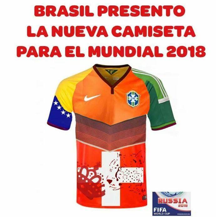 Argentinos provocando nova camisa Brasil Copa 2018