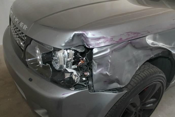 detalhe Range Rover atropelamento Jordan Parsons MMA Bellator (Foto: Reprodução/Facebook)