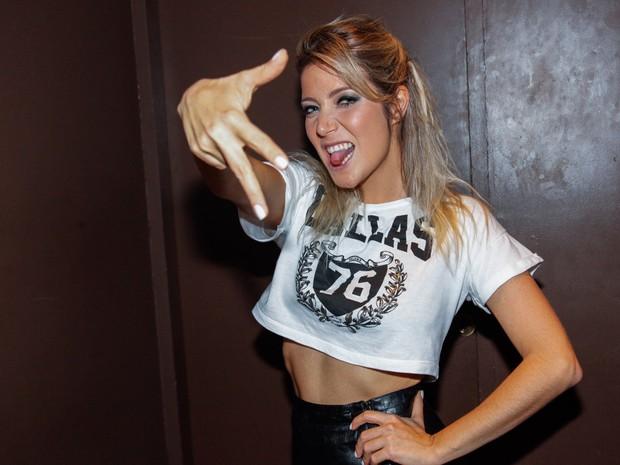 Luiza Possi em bastidores de show em São Paulo (Foto: Manuela Scarpa e Marcos Ribas/ Foto Rio News)