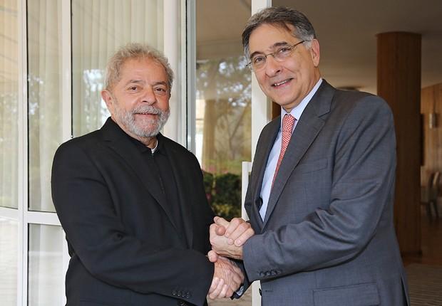 O ex-presidente Luiz Inácio Lula da Silva se encontra com o governador de Minas Gerais, Fernando Pimentel em agosto de 2015 (Foto: Ricardo Stuckert/Instituto Lula)