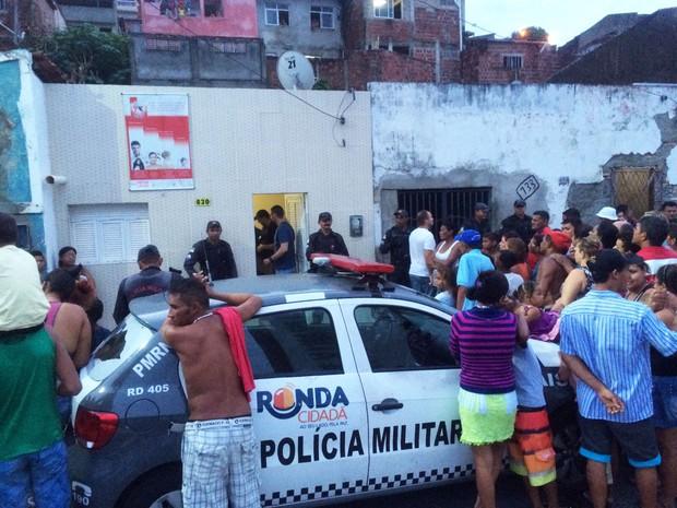 Crime aconteceu em Mãe Luíza na tarde desta quinta-feira (14) (Foto: Kléber Teixeira/Inter TV Cabugi)