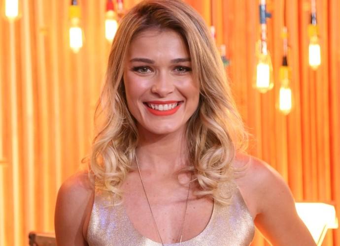 Kika na coletiva de imprensa do The Voice Kids (Foto: Isabella Pinheiro/Gshow)