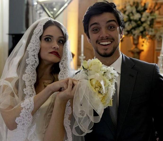 Juliana Paiva e Rodrigo Simas viveram Fatinha e Bruno, o casal #BruTinha de 'Malhação' (Foto: Gshow)