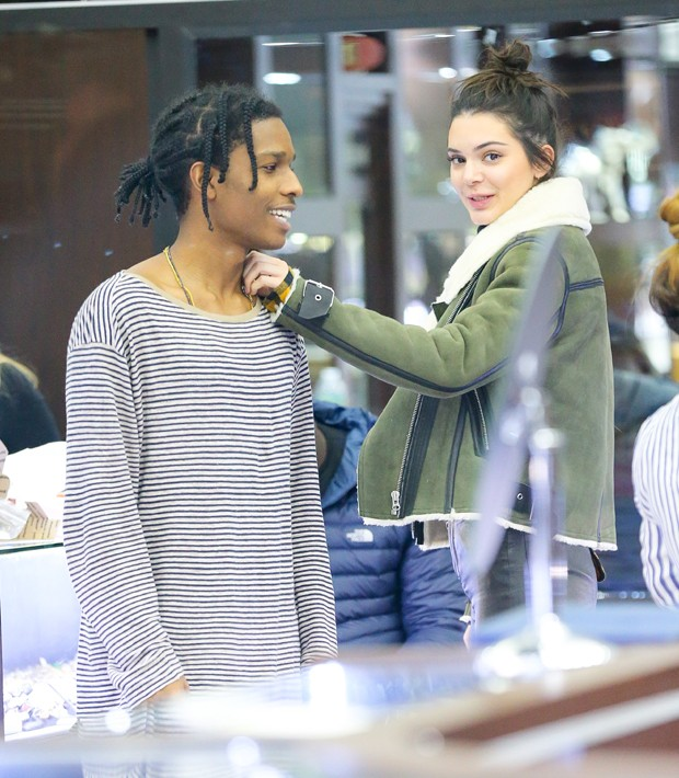 A$AP Rocky e Kendall Jenner (Foto: Grosby Group)