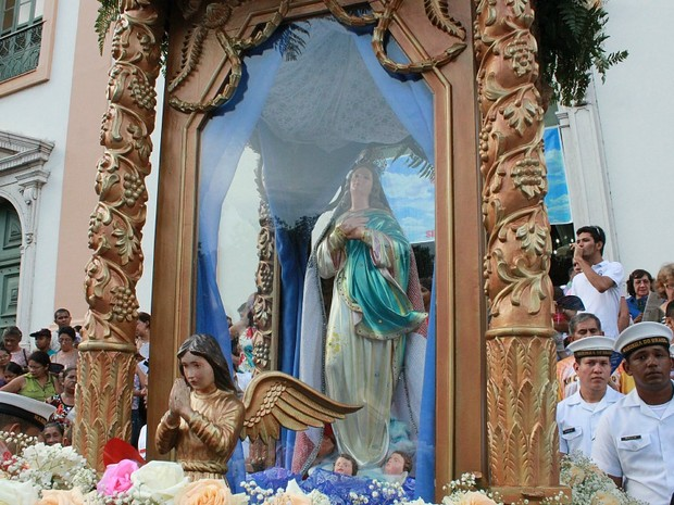 Imaculada Conceição é padroeira do Amazonas (Foto: Camila Henriques/G1 AM)