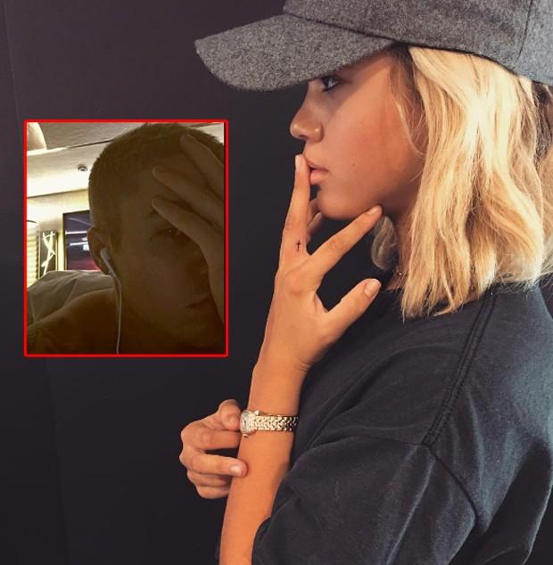 Sofia Richie exibe tatuagem igual a que Bieber tem próximo ao olho (Foto: Reprodução)