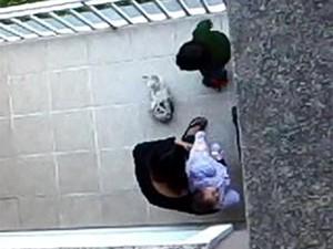 Cão é agredido por dona em Porto Alegre (Foto: Arquivo Pessoal/G1)