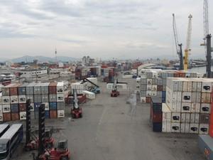 Porto de Itajaí (Foto: Luíza Fregapani/G1 SC)