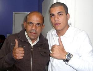 Thiago Carleto com o pai  Fluminense (Foto: Divulgação / Arquivo Pessoal)