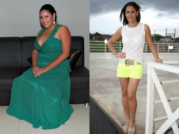 Bruna Vieira chegou a pesar 90 Kg. (Foto: Rayssa Natani/ G1)